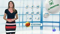 Lotería Nacional + La Primitiva + Bonoloto - 18/10/18