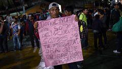 Situación crítica en frontera de Honduras con Guatemala por la caravana masiva de migrantes hacia EE.UU.