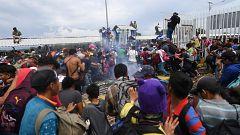 Los hondureños desoyen a Trump y cruzan a México