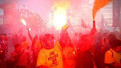 Manifestación en A Coruña contra el cierre de dos factorías de Alcoa