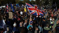 Manifestación en Londres por un nuevo referéndum sobre el Brexit