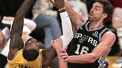 Los Lakers de LeBron vuelven a caer, esta vez ante los Spurs de Gasol
