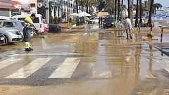 Un frente deja lluvias intensas en Canarias y el frío irrumpe en la Península