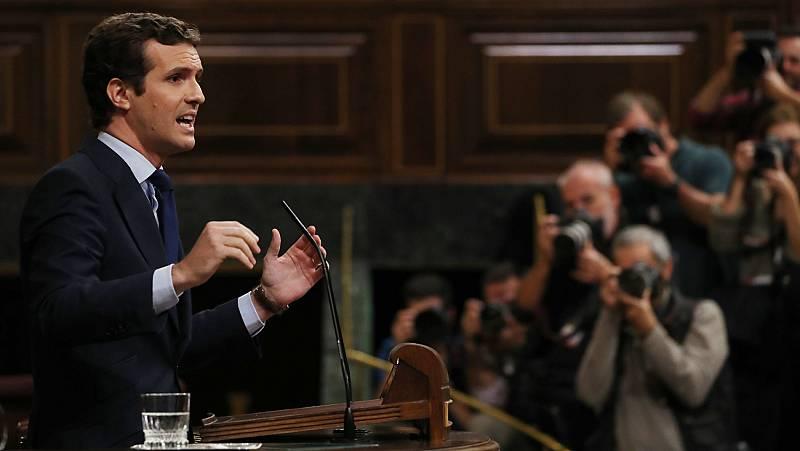 """Casado acusa a Sánchez de """"participar"""" en un """"golpe de Estado"""""""