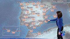 Lluvias fuertes en Canarias y temperaturas estables en Península