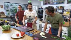 Torres en la cocina - Lasaña crujiente y crema de galletas y chocolate