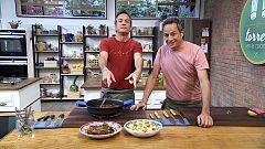 Torres en la cocina - Pasta con berenjena y pollo con melaza