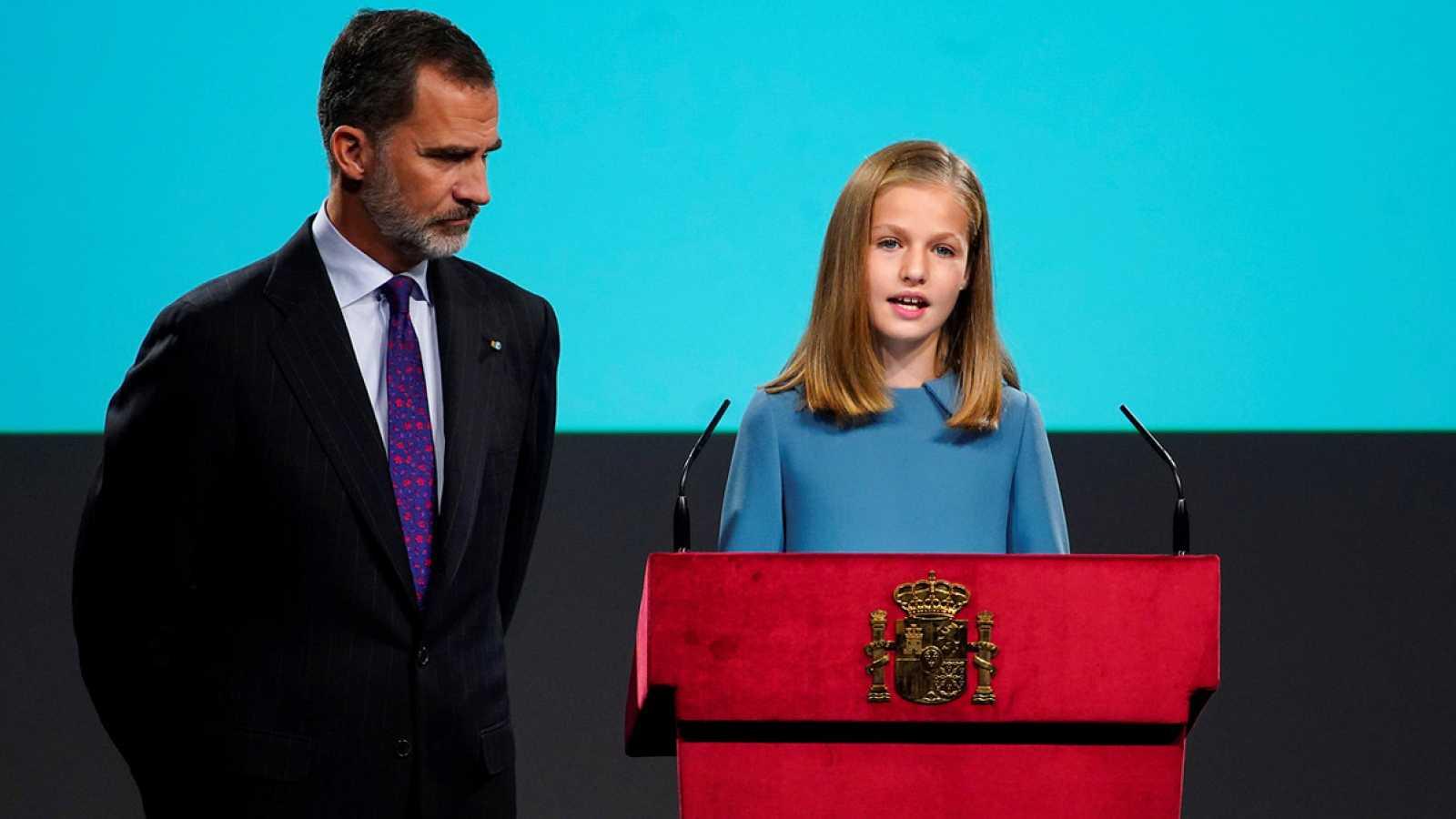 La princesa Leonor realiza su primera intervención pública leyendo el primer artículo de la Constitución