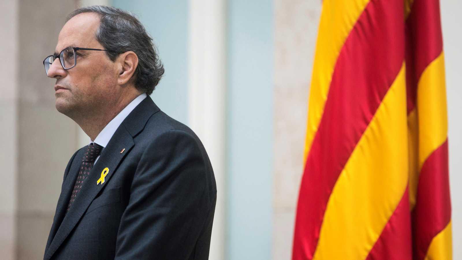"""Torra: """"Presidente Sánchez: nosotros, el pueblo de Cataluña, le retiramos el apoyo y le decimos que no votaremos los presupuestos"""""""