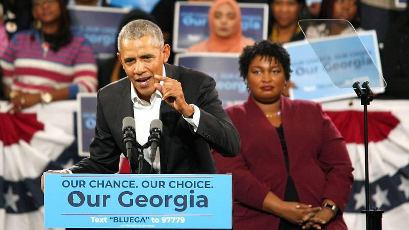 """""""No os quejéis"""", """"salid a votar"""", ha dicho Obama en Georgia"""