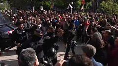 Jusapol reivindica en Barcelona la equiparación salarial de los cuerpos policiales y los CDR convocan una contramanifestación