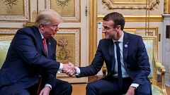 Trump y Macron, de acuerdo en que Europa debe aumentar su aportación a la defensa común