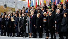 Cerca de 70 líderes mundiales participan en los actos de conmemoración del centenario del final de la Primera Guerra Mundial