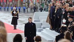 Más de 70 líderes mundiales conmemoran en París el centenario del final de la Gran Guerra