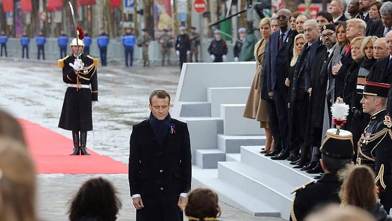 Centenario de la Primera Guerra Mundial - Más de 70 líderes mundiales conmemoran el armisticio en París