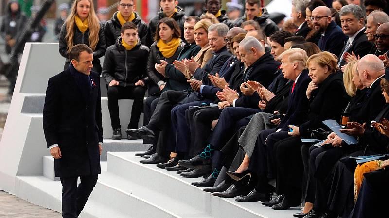 Mandatarios de todo el mundo rememoran en París el centenario de la Gran Guerra