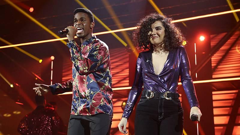 "OT 2018 - Famous y Marta cantan ""September"" en la gala 8"