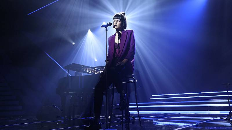 """OT 2018 - Natalia canta """"Aunque no sea conmigo"""" en la gala 8"""