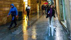 Lluvias fuertes en la Comunidad Valenciana y Cataluña