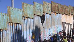La caravana llega a la frontera entre México y EE.UU.