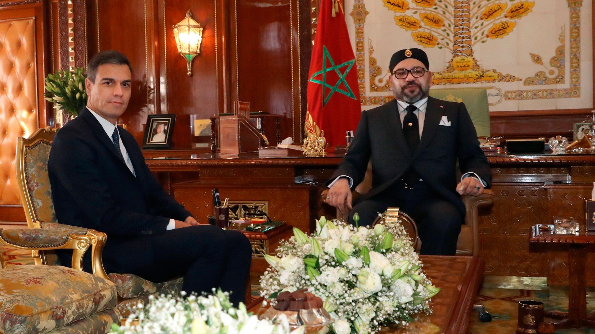 Resultado de imagen de Pedro Sanchez y Mohamed VI