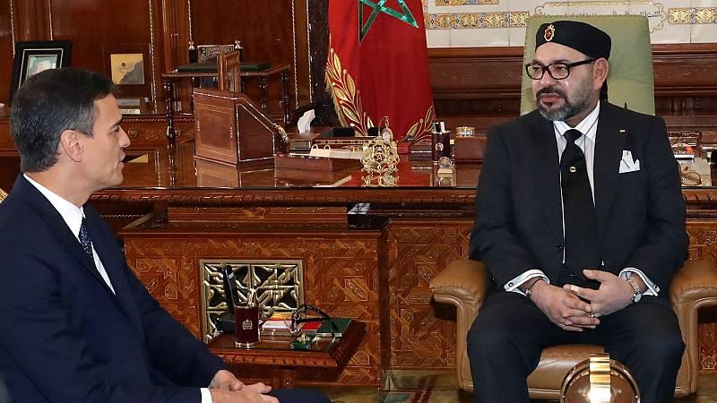 Primera reunión oficial entre Sánchez y el rey de Marruecos