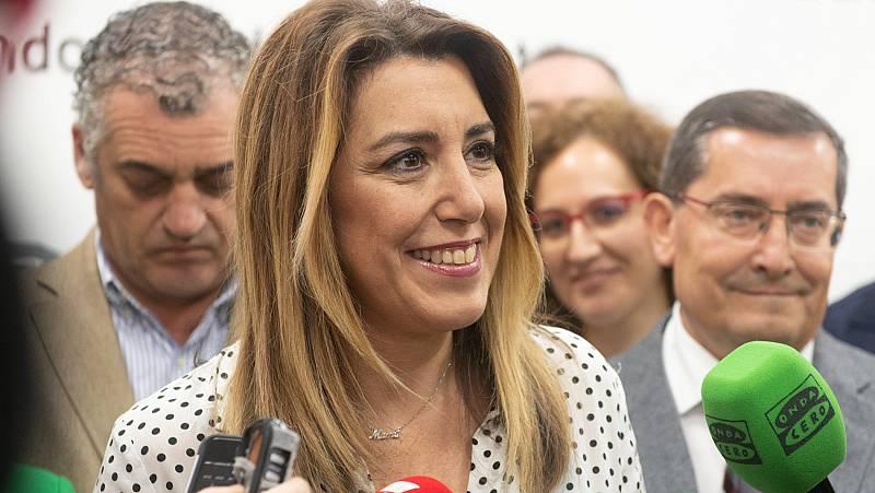 Una protesta de taxistas obliga a suspender un mitin de Susana Díaz en Sevilla