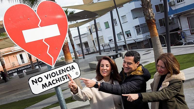 Los candidatos andaluces se vuelcan contra la violencia de género