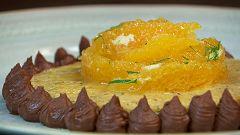 Torres en la cocina - Sobao de naranja con hierbabuena