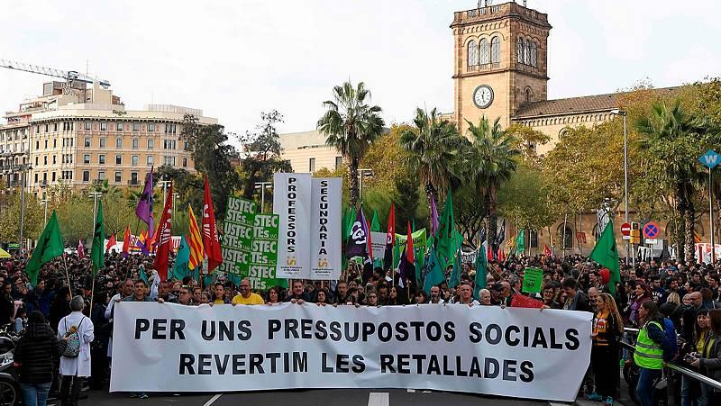 Nueva jornada de protesta contra los recortes en Cataluña