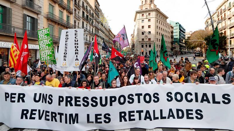 Nueva jornada de protestas contra los recortes en Cataluña