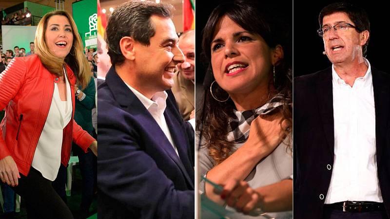Andalucía cierra una campaña en clave nacional que los partidos plantean como un primera vuelta
