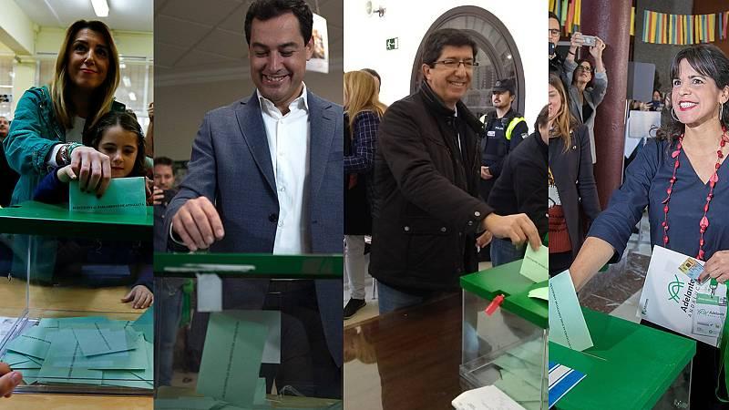 Elecciones andaluzas 2018 | Los principales candidatos en las elecciones andaluzas votan llamando a la participación