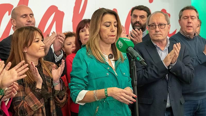 """Susana Díaz: """"Hago un llamamiento para que las fuerzas constitucionalistas lo demostremos parando a la extrema derecha en Andalucía"""""""