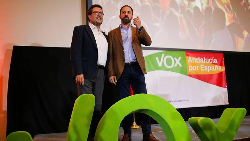 "Abascal advierte a Cs que le pasará ""factura"" si no contribuye a echar al PSOE de la Junta"