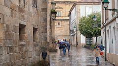 Lluvias persistentes e intervalos de vientos fuertes en Galicia