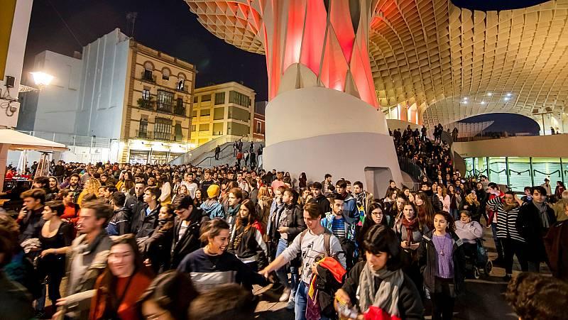 Manifestaciones en distintas ciudades andaluzas contra el fascismo tras el auge de Vox