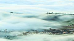 Nieblas en zonas de la meseta norte y del interior de Cataluña