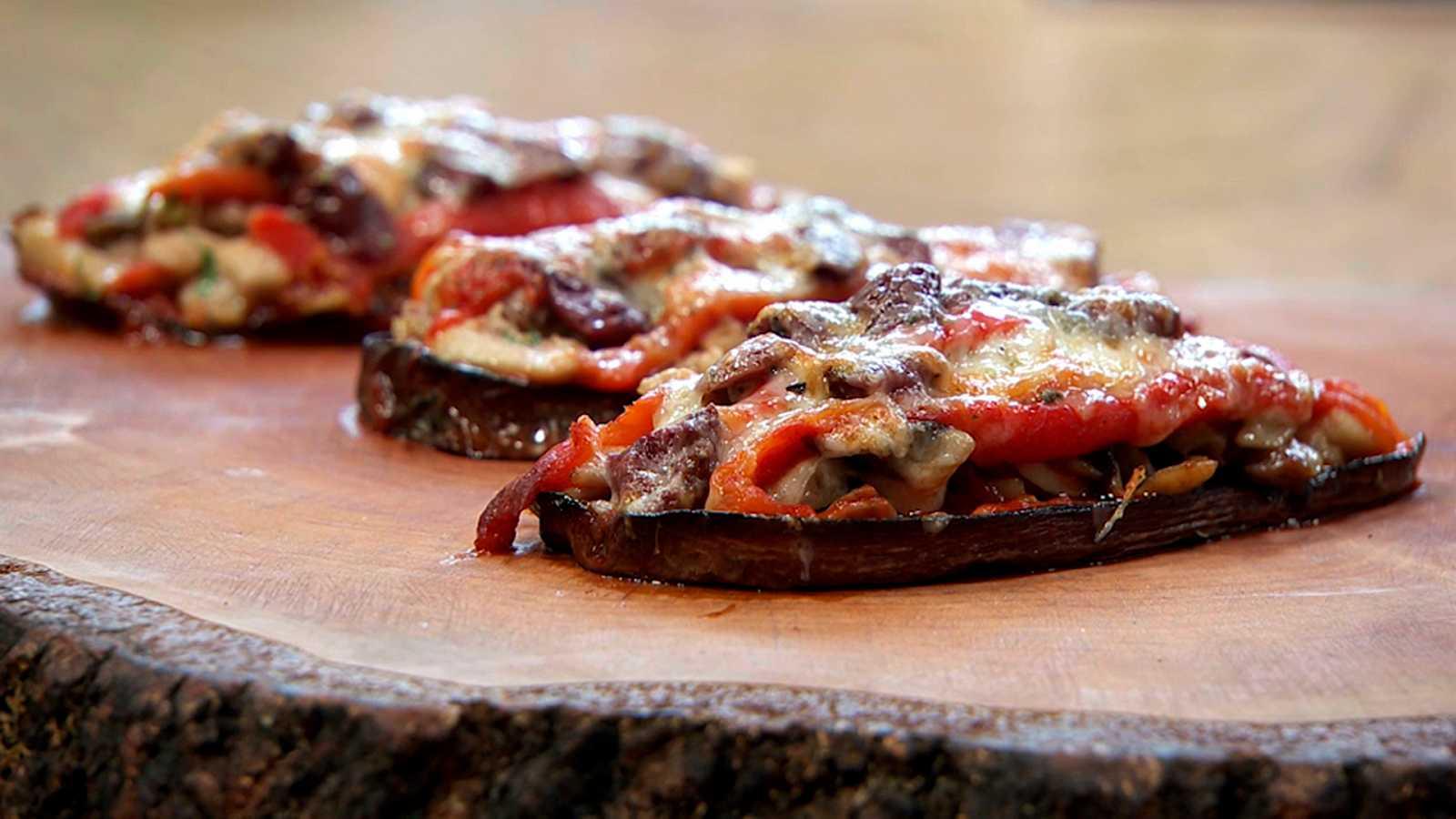 Torres en la cocina - Mini pizza de berenjena