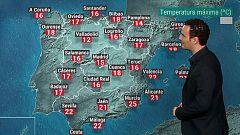 Ligero descenso de las temperaturas en la península