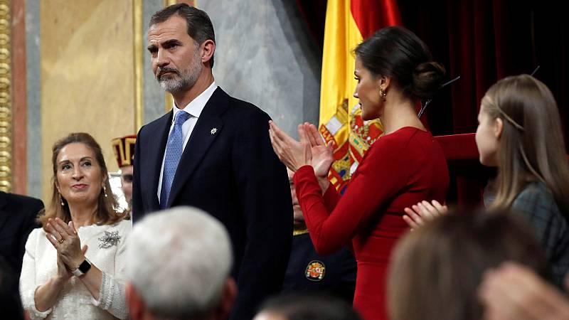 El rey reivindica los valores constitucionales y no suprimir la diversidad territorial