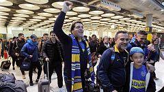 Final Libertadores: La última oleada de aficionados de River y Boca llega sin incidentes a Madrid