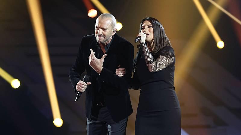 """OT 2018 - Laura Pausini y Biagio Antonacci cantan """"El valor de seguir adelante"""" en la gala 12"""