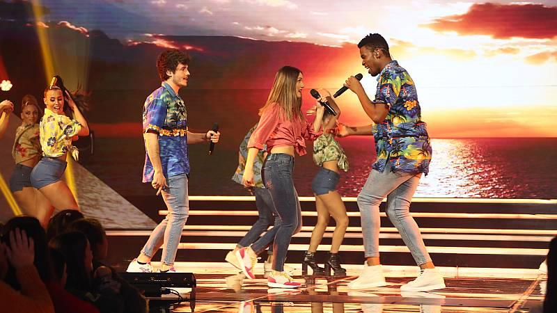 """OT 2018 - Miki, Sabela y Famous cantan """"Calypso"""" en la gala 12"""