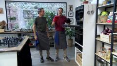 Torres en la cocina - Humus de alubias y pata canaria asada