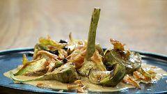 Torres en la cocina - Alcachofas con chantilly de foie