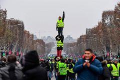Las movilizaciones de los 'chalecos amarillos' pierden fuerza en su quinto sábado de protesta