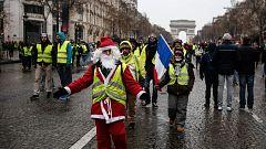La quinta convocatoria de los 'chalecos amarillos' en Francia reúne menos manifestantes que los sábados anteriores