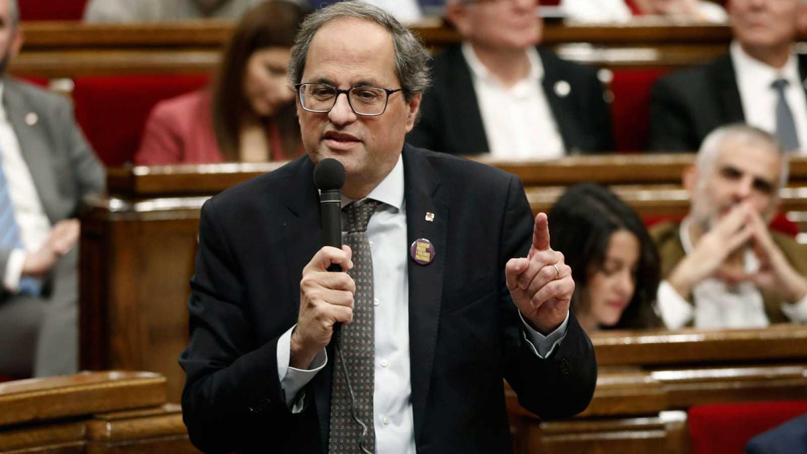"""Torra pide a Sánchez que """"tenga coraje para entablar un diálogo abierto"""" con el Govern"""