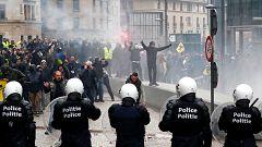 Disturbios en una marcha de la ultraderecha en Bruselas contra el pacto migratorio de la ONU